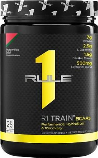 Rule 1 Protein R1 Train BCAAs - Watermelon Splash 25 Servings Intra Workout D...