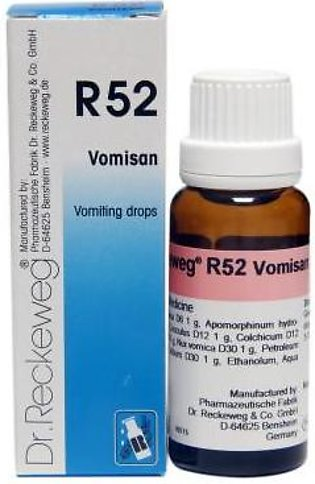 Dr Reckeweg & Co. Germany Vomiting Drops - R-52- 22ml