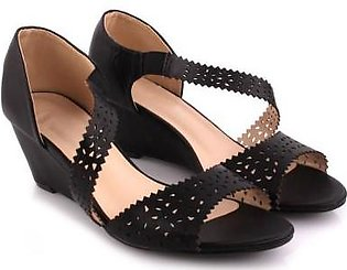 Unze London 'Lesley' Perforated Wedge Sandals