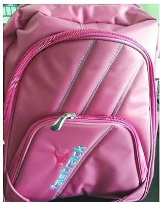 M Toys Sports & Stationers Fastrack Pink & Purple Super Quality Fabric School...