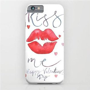 Shahjee Kissing Lips Printed Cover Case Oppo F9