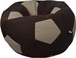 Relaxsit King Size Fabric Football Bean Bag - Brown & Beige