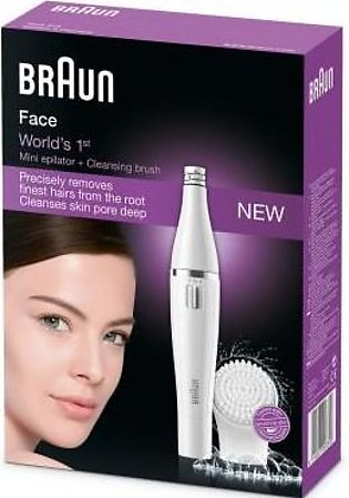 Braun Braun Face 810 Facial Epilator, Hair Removal and Facial Cleansing, with A…