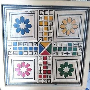 M Toys Sports & Stationers High Quality Medium size 4-player Wooden Ludo
