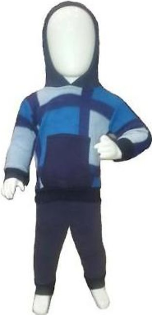 Blue Store Blue & Navy Blue Winter Suit Pullover Hoodie Style For Baby Boy