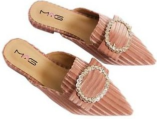Metro Metro Shoes and Bags Fancy Flat Slippers For Women SD-6818 Pink