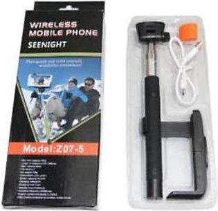 Mobicity Bluetooth Selfie Stick with Remote Shutter - Black