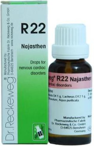 Dr Reckeweg & Co. Germany Drops for Nervous Disorders - R-22-  22ml