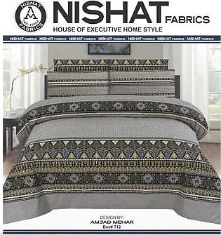 Tabarruk Nishat Fabrics King Size Bed Sheet With Pilow Covers - DES 712