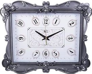 "Asaan Buy Flower Diamonds Wall Clock-20x15""-Silver"