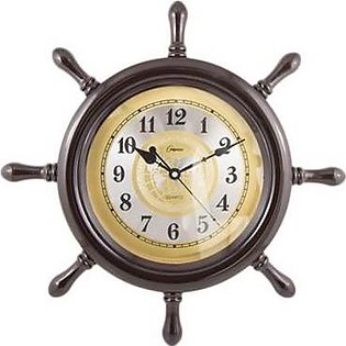 Asaan Buy Pirate Wheel Wall Clock-Plain Silver Dial-17x17'
