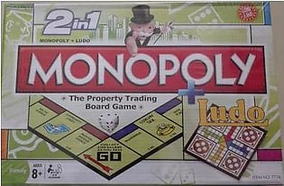 M Toys Sports & Stationers Super Quality 2-in-1 Monopoly + Ludo Board Games