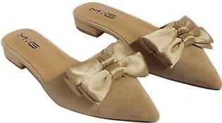 Metro Metro Shoes and Bags Fancy Flat Slippers For Women SD-1129 Fawn