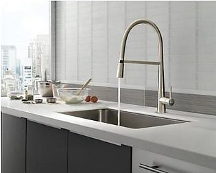 STEELINE 598-SS Kitchen Faucet With Pull-out Shower (Made In Italy)