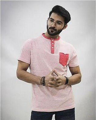 Red Tree Pink Strip Hanly T-Shirt - RT1584