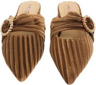 Metro Metro Shoes and Bags Fancy Flat Slippers For Women SD-1128 Brown