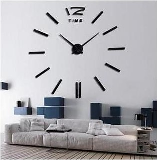 Asaan Buy Silent Movement DIY Wall Clock-Black