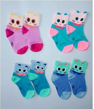 Ayra Collection 4 Pairs of baby socks for 2-6 years