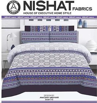 Tabarruk Nishat Fabrics Cotton Bed Sheet - DES 710