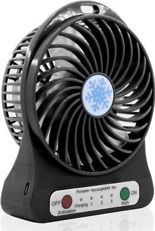 Net World USB Rechargeable LED Fan Air Cooler-Black