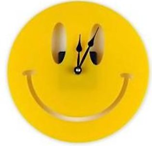 Rubian RUBIAN Smiley Face Acrylic Wall-clock Yellow