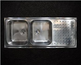 STEELINE Punto Plus 116x50 2V Stainless Steel Kitchen Sink (Made In Italy)