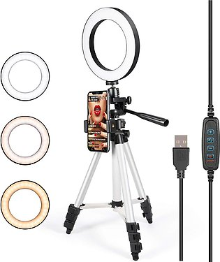 Yayvo LED Selfie Light 8 Inches Big LED Ring Light for Camera Smartphone with...
