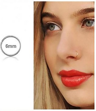 Scenic Accessories Tiny Silver Nose Ring - 6mm