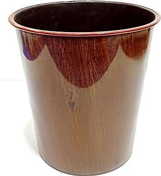 Quickshopping Small Dustbin - Brown Texture