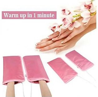Fashion Zeee 1 Pair Electric Manicure Gloves Heated Mitts Infrared Wax Mitt W...