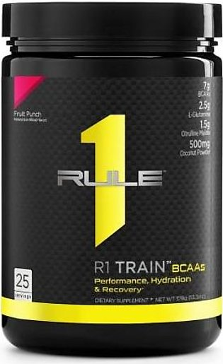 Rule 1 Protein R1 Train BCAAs - Fruit Punch 25 Servings Intra Workout Drink