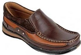 Emotions Brown Leather Slip On Digger Shoes