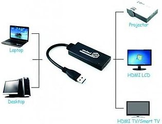 WOG USB 3.0 to HDMI Video Cable Adapter Converter For PC & Laptop - Black