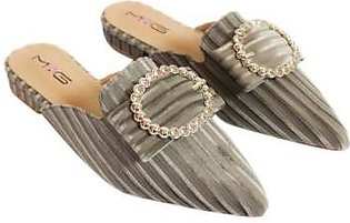 Metro Metro Shoes and Bags Fancy Flat Slippers For Women SD-6818 Grey