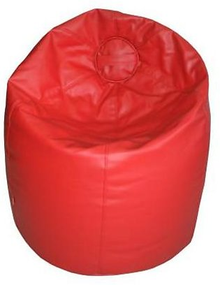 Relaxer Bean Bags Red Plain Leatherite Extra Large Bean Bag - XLRT 02 A