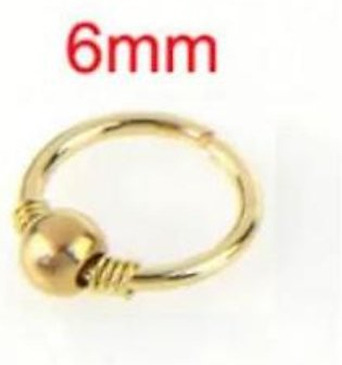 Scenic Accessories Gold Plated Hoop Nose Ring - Nose Earring