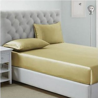 BaggyBeans Baggy Beans Fitted Sheets - Soft Silk Shiny Fitted Sheet - Golden
