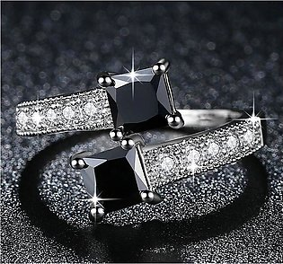 Shopping Solutions Luxury Starry White Gold Filled Ring