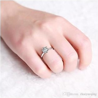 Pretty Lady Silver Six Claws Plated Ring