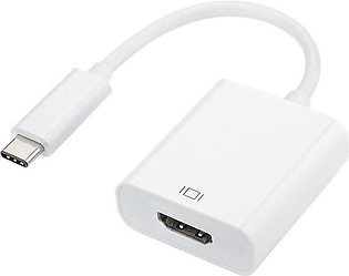 Battery Parcel USB Type C 3.1 To HDMI Converter-White