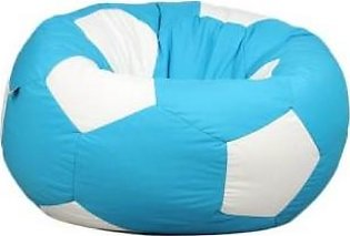 Relaxsit King Size Fabric Football Bean Bag Chair - Turquoise & White