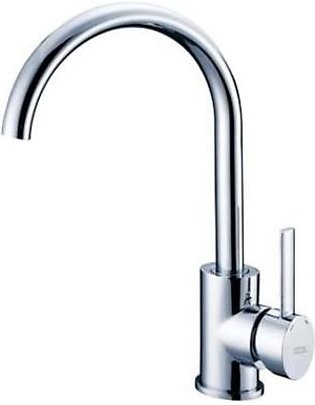 Zilver Chrome Finish Sink Mounted Kitchen Mixer & Sink-E-CL502