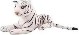 Asaan Bachpan High Quality Stuffed Tiger - White - 73 Centimeter