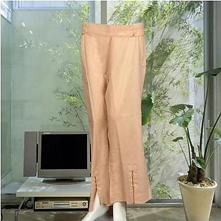 Grand Kleider Beige Bell Bottom Trouser With Beats In Front