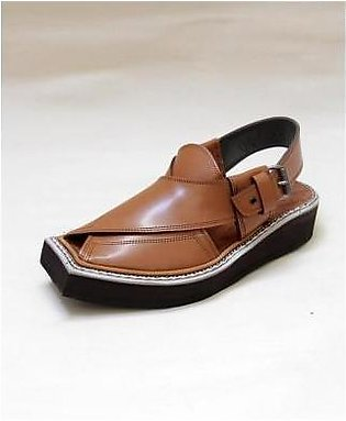Emotions Mustard Brown Leather Kaptaan Chappal MZ