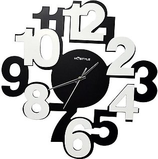 zapple Modern Funky Black White Wall Clock