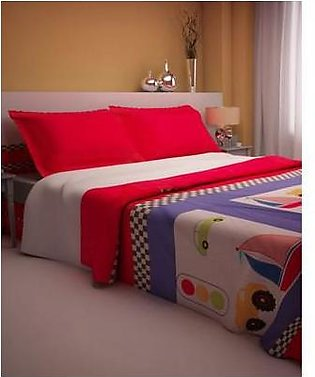 Children Home Store Single Bed Set with 2 Pillow Cases