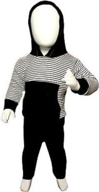 Blue Store Black & White Winter Suit Pullover Hoodie Style For Baby Boy