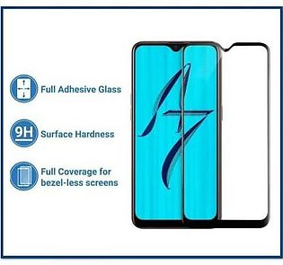 MISC Mobiles Full Glue 5D Oppo A7 Tempered Glass Screen Protector Edge to Edge …