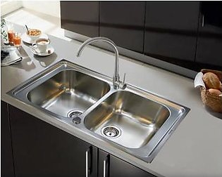 STEELINE Cristal 86x50 2V Stainless Steel Kitchen Sink (Made In Italy)